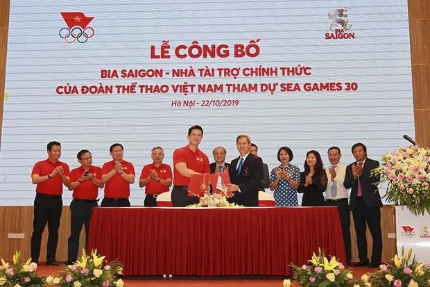 Sabeco es patrocinador oficial de delegacion vietnamita en SEA Games 30 hinh anh 1
