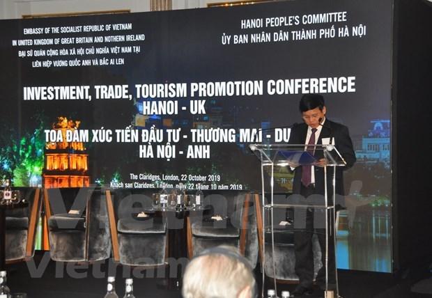 Presentan en Reino Unido potencialidades comerciales y turisticas de Hanoi hinh anh 1