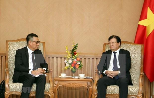 Recibe vicepremier vietnamita al director general del grupo tailandes SCG hinh anh 1