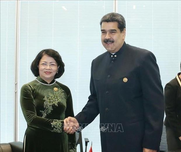 Vicepresidenta de Vietnam se reune con dirigentes de Venezuela y Corea del Norte al margen de MNOAL hinh anh 1