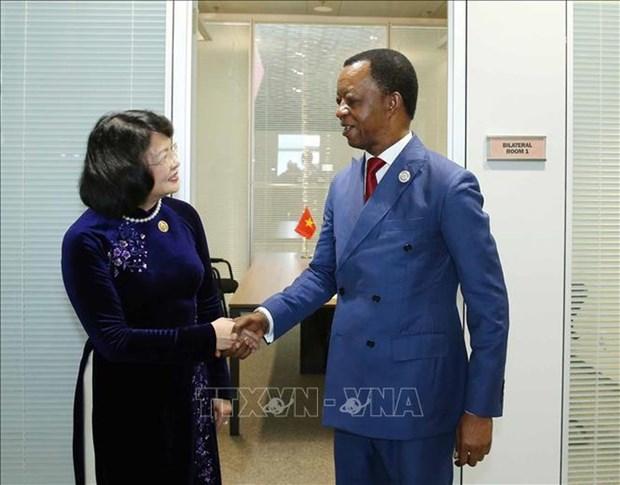 Vicepresidenta de Vietnam se reune con dirigentes de Venezuela y Corea del Norte al margen de MNOAL hinh anh 3