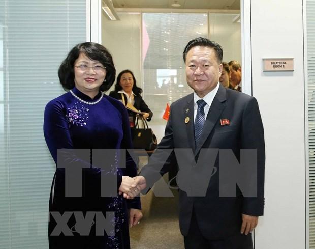 Vicepresidenta de Vietnam se reune con dirigentes de Venezuela y Corea del Norte al margen de MNOAL hinh anh 2