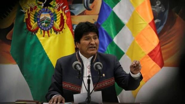 Felicita Vietnam a Evo Morales por su reeleccion como presidente de Bolivia hinh anh 1