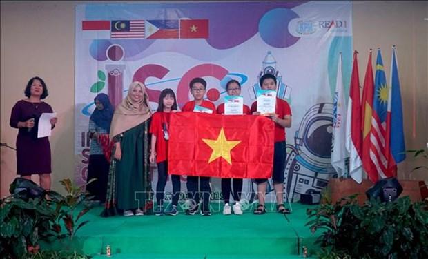 Triunfa delegacion vietnamita en Concurso Internacional de Ciencias en Indonesia hinh anh 1