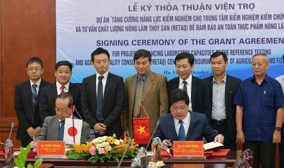 Ayuda Japon a Vietnam para mejorar control de seguridad alimentaria hinh anh 1