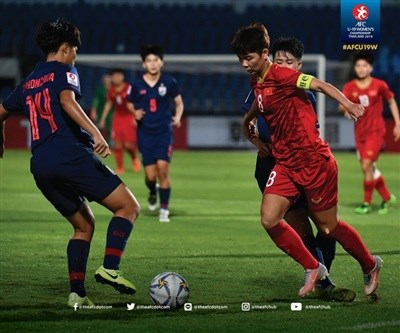 Derrota seleccion femenina de futbol vietnamita sub19 a Tailandia en campeonato asiatico hinh anh 1