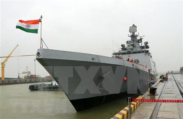 Visita buque naval de la India a ciudad vietnamita de Da Nang hinh anh 1