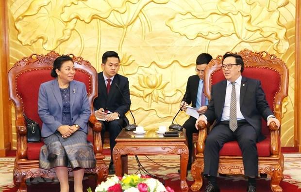 Robustecen Partidos de Vietnam y Laos lazos entre sus Comisiones de Relaciones Exteriores hinh anh 1