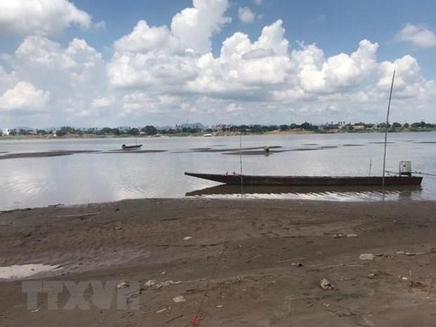 Nivel de las aguas del rio Mekong en Tailandia toca fondo en casi un siglo hinh anh 1