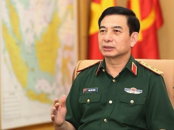 Fortalecen Vietnam y Camboya cooperacion en defensa hinh anh 1
