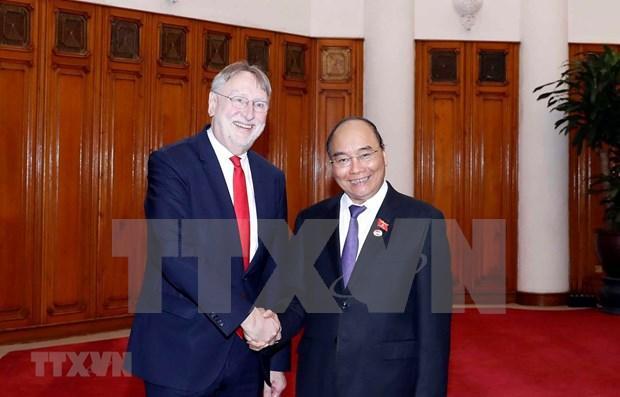 Primer ministro de Vietnam recibe a la delegacion del Parlamento Europeo hinh anh 1