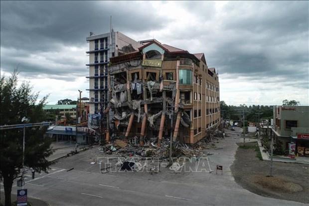 Mueren cinco personas durante nuevo terremoto en Filipinas hinh anh 1