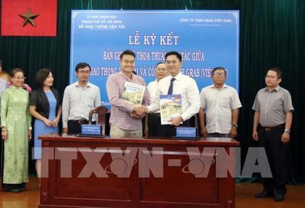 Cooperaran Ciudad Ho Chi Minh y la empresa Grab en construccion de sistema inteligente de trafico hinh anh 1