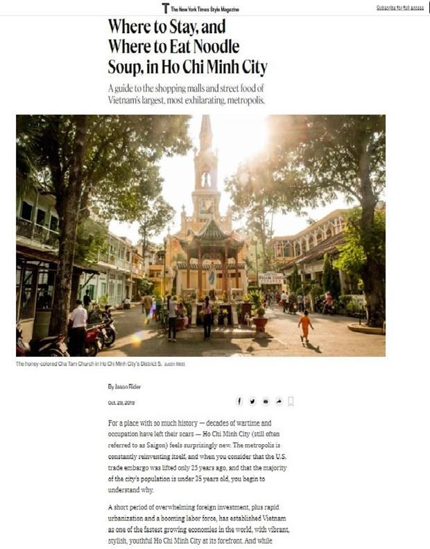 Resalta prensa estadounidense los atractivos de Ciudad Ho Chi Minh hinh anh 1