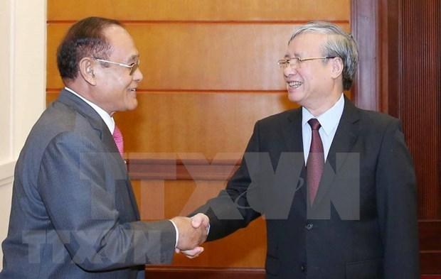 Concede Vietnam maxima prioridad a fortalecimiento de nexos con Camboya hinh anh 1
