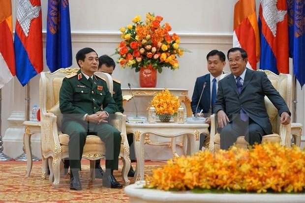 Concluye delegacion militar de alto nivel de Vietnam visita a Camboya hinh anh 1