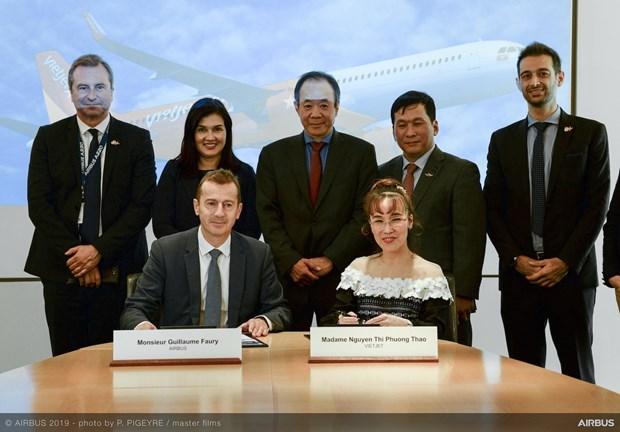 Compra aerolinea vietnamita 20 aviones A321XLR de Airbus hinh anh 1