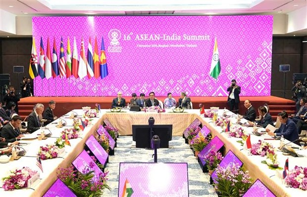 Vietnam participa en XVI Cumbre ASEAN-India hinh anh 1