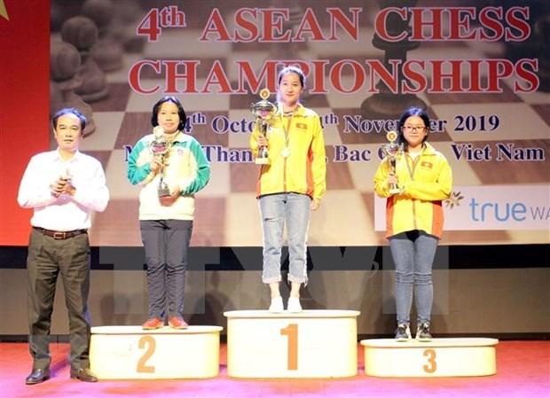 Cosecha Vietnam lluvia de medallas en Campeonato de Ajedrez del Sudeste Asiatico hinh anh 1