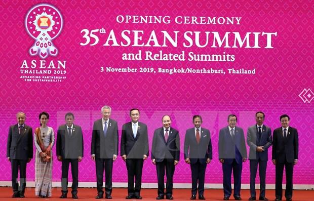 Vietnam asiste a la XXXV Cumbre de la ASEAN hinh anh 1