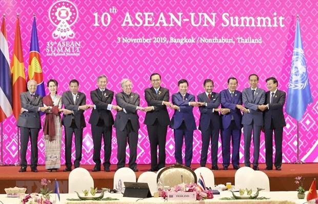 Conceden lideres de la ASEAN y la ONU importancia a la cooperacion bilateral hinh anh 1