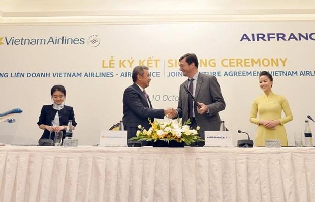 Alianza entre Vietnam Airlines y Air France brinda servicios a 625 mil viajeros hinh anh 1