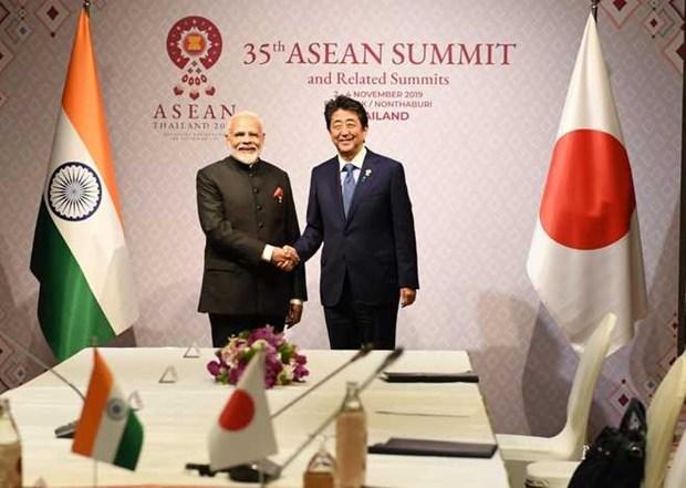 Intensifican Japon y la India cooperacion en defensa hinh anh 1