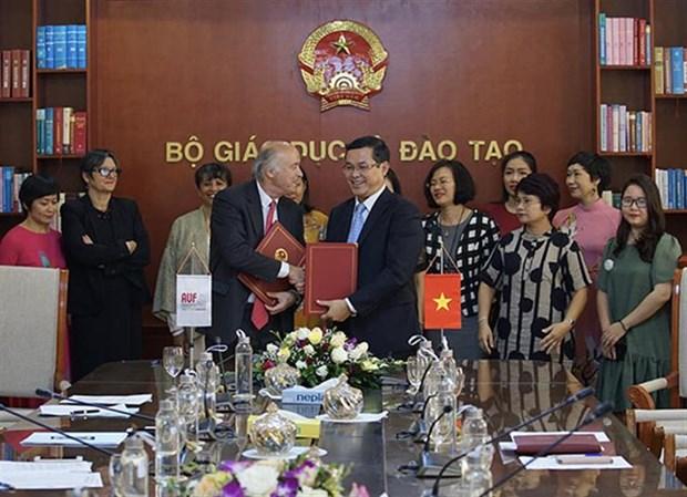 Incrementa Agencia de la Universidad Francofona cooperacion con Vietnam en educacion hinh anh 1