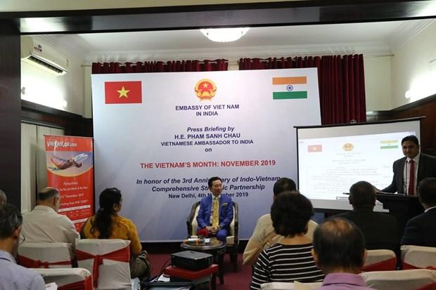 """Anuncian docenas de actividades durante el """"Mes de Vietnam"""" en India hinh anh 1"""