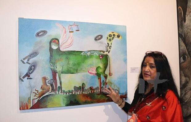 Abre sus puertas en Hanoi Exposicion de Bellas Artes de destacados autores asiaticos hinh anh 1