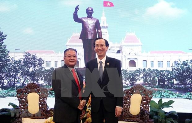 Resalta Camboya apoyo de Vietnam en sector de informacion y comunicacion hinh anh 1