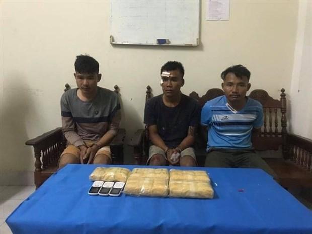 Arrestan en Vietnam a tres narcotraficantes de heroina a traves de frontera con Laos hinh anh 1