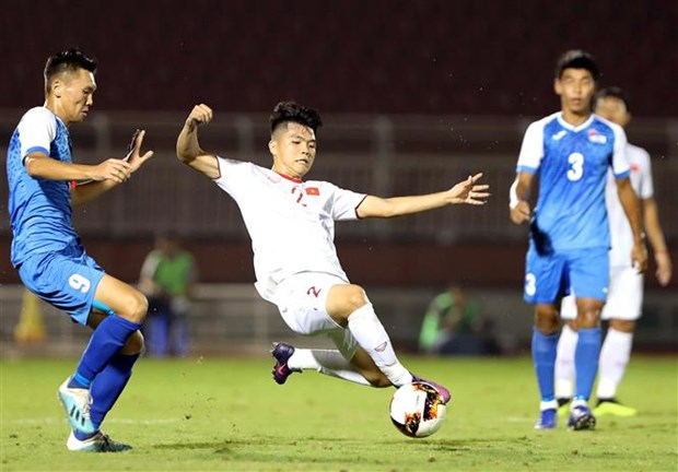 Gana Vietnam a Mongolia en eliminatoria del Campeonato Asiatico de Futbol Sub19 hinh anh 1