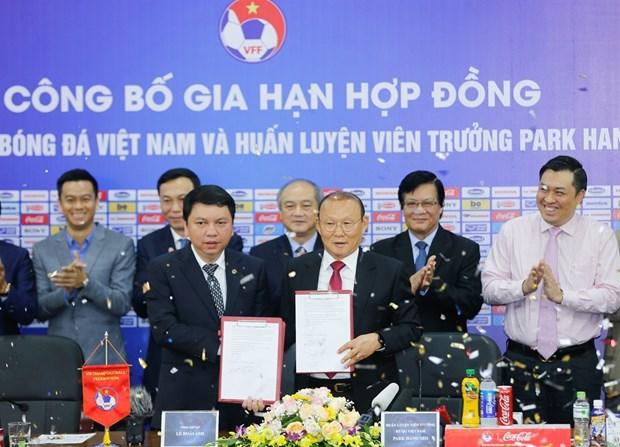 Continuara el surcoreado Park Hang-seo como entrenador de la seleccion vietnamita de futbol hinh anh 1