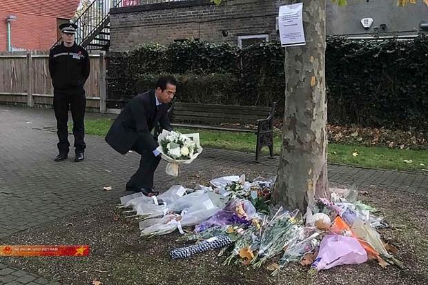 Extiende embajador britanico en Vietnam condolencias a familias de victimas de tragedia en Essex hinh anh 1