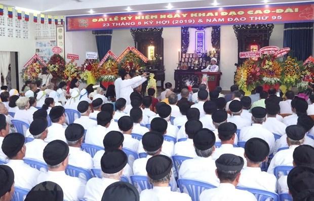 Envia dirigente vietnamita felicitaciones por 93 aniversario de la fundacion de la religion de Cao Dai hinh anh 1