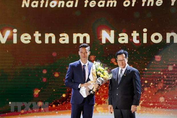 Gana seleccion de futbol de Vietnam premio al mejor equipo regional hinh anh 1
