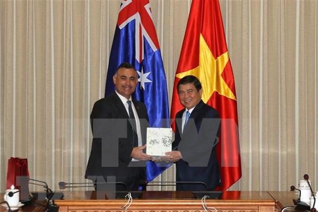 Ciudad Ho Chi Minh y estado australiano de Nueva Gales del Sur dinamizan cooperacion hinh anh 1