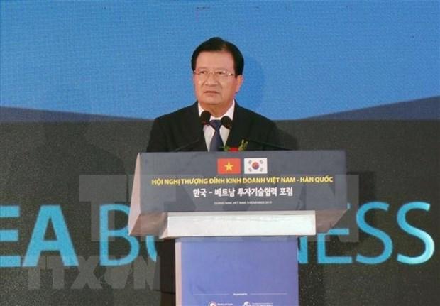 Vicepremier vietnamita promete mejores condiciones para inversores surcoreanos hinh anh 1