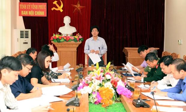 Instancia partidista en provincia vietnamita de Vinh Phuc analiza asuntos internos hinh anh 1