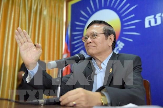 Camboya: Expresidente del partido opositor liberado temporalmente hinh anh 1