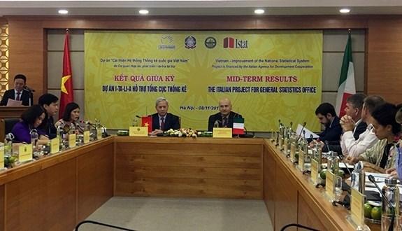 Destacan respaldo de Italia a Vietnam en mejoramiento del sistema estadistico hinh anh 1