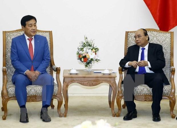 Destaca primer ministro de Vietnam cooperacion financiera con grupo sudcoreano hinh anh 1