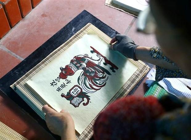 Pinturas folcloricas de Dong Ho, legado cultural de Vietnam hinh anh 1