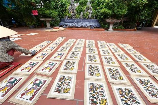 Pinturas folcloricas de Dong Ho, legado cultural de Vietnam hinh anh 2