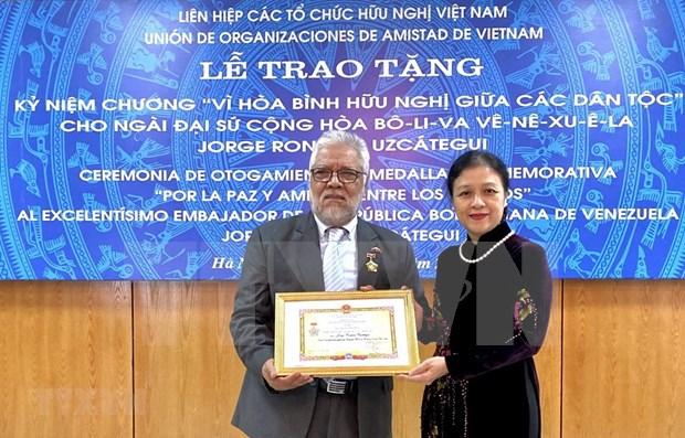 Honran en Vietnam al embajador saliente de Venezuela hinh anh 1