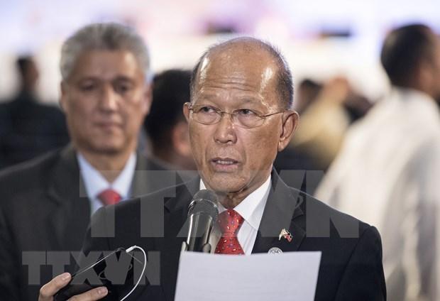 Propone ministro de Defensa levantar ley marcial en el sur de Filipinas hinh anh 1
