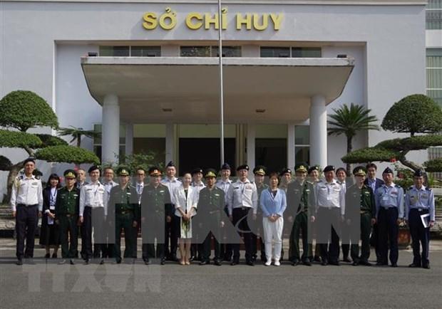 Visita delegacion militar japonesa a Comando de guardafronteras de Vietnam hinh anh 1