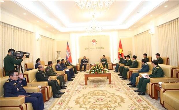 Camboya solicita apoyo del Ministerio de Defensa de Vietnam en capacitacion de personal hinh anh 1