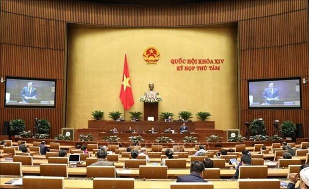 Parlamento de Vietnam prosigue octavo periodo de sesiones de trabajo hinh anh 1